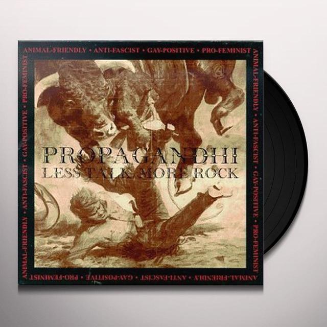 Propagandhi LESS TALK MORE ROCK Vinyl Record