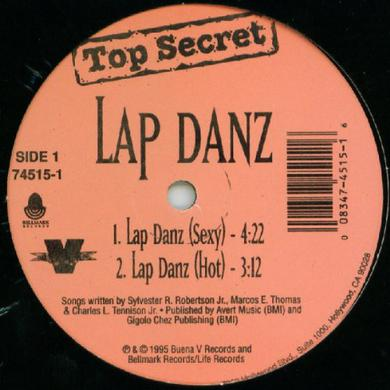 Top Secret LAP DANZ Vinyl Record