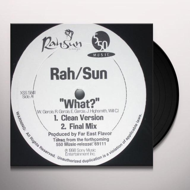 Rah Sun WHAT (X3) Vinyl Record
