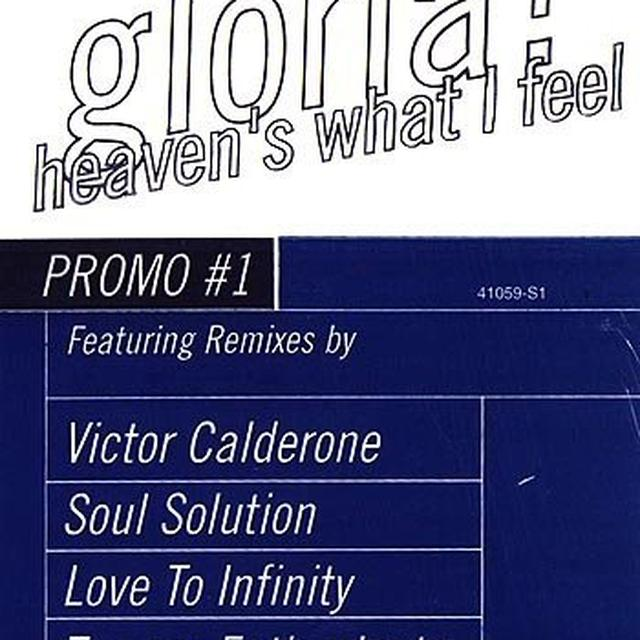 Gloria Estefan HEAVEN'S WHAT I FEEL (X3) / GLORIA'S HITMIX Vinyl Record
