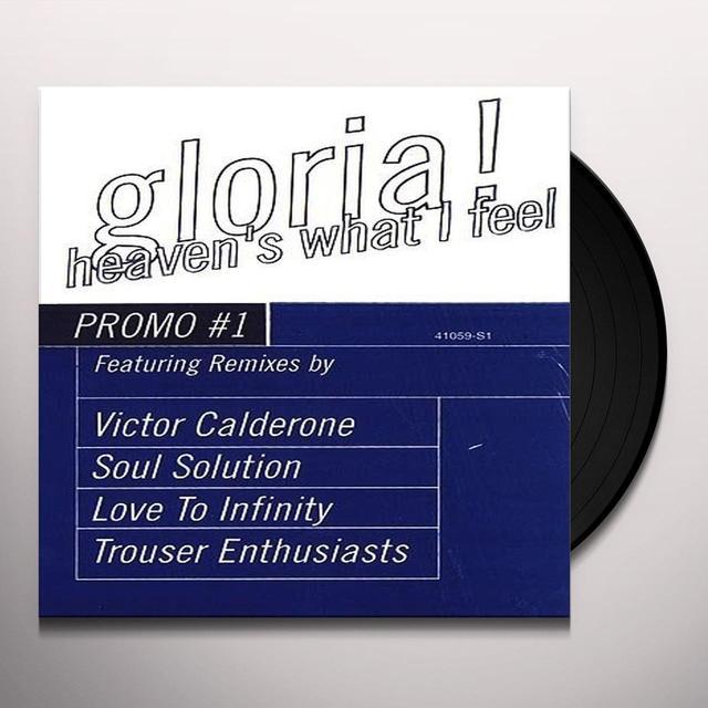 Gloria Estefan HEAVEN'S WHAT I FEEL (X3) / GLORIA'S HITMIX Vinyl Record