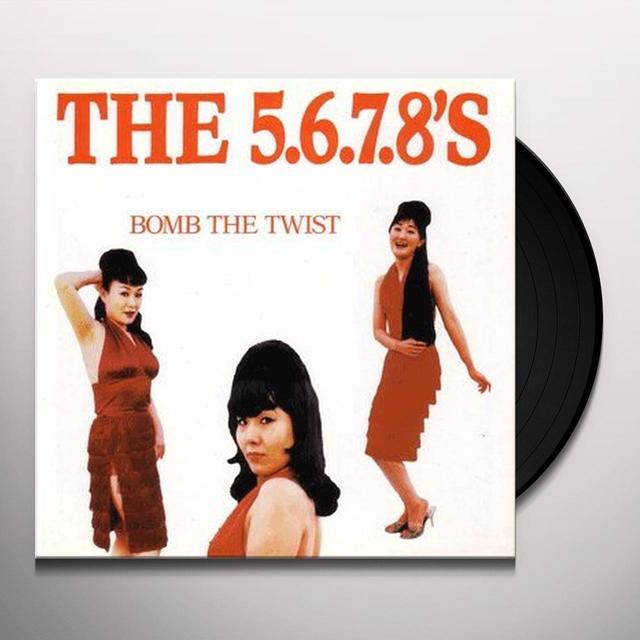 """The 5.6.7.8's BOMB THE TWIST (10"""") Vinyl Record"""