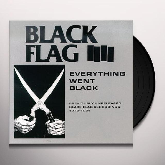 Black Flag EVERYTHING WENT BLACK Vinyl Record