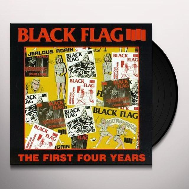 Black Flag FIRST FOUR YEARS / SINGLES Vinyl Record