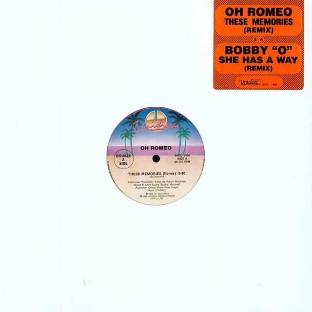 Oh Romeo THESE MEMORIES Vinyl Record - Canada Import