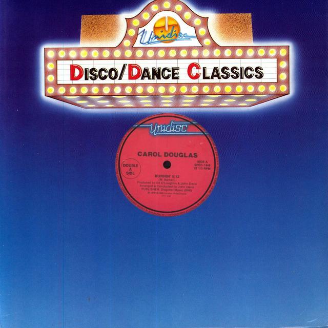 Carol Douglas BURNIN / NIGHT FEVER Vinyl Record - Canada Import