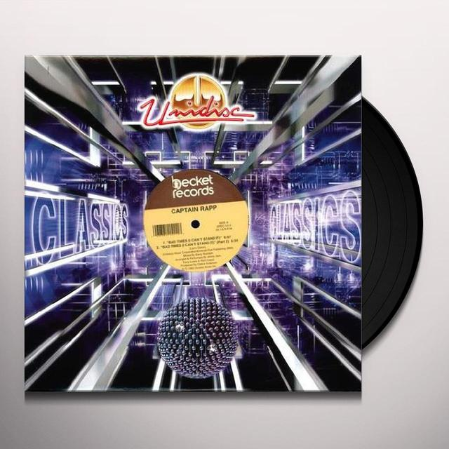 Captain Rapp BAD TIMES Vinyl Record - Canada Import