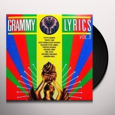 GRAMMY LYRICS 3 / VARIOUS Vinyl Record