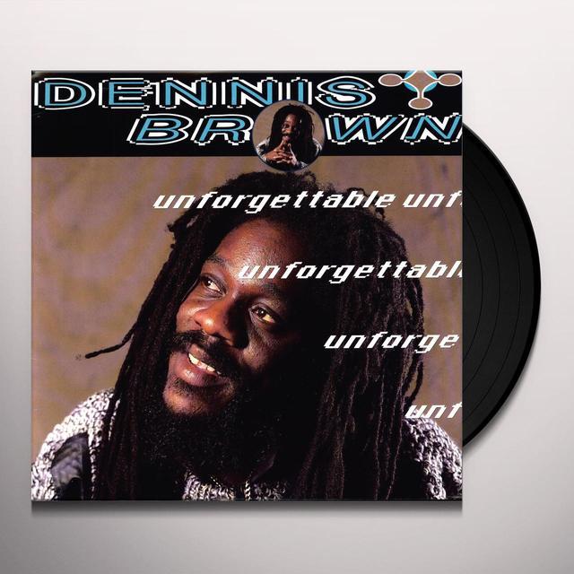 Dennis Brown UNFORGETTABLE Vinyl Record