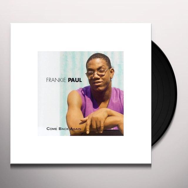 Frankie Paul COME BACK AGAIN Vinyl Record