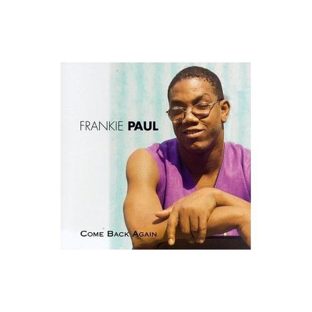 Frankie Paul COME BACK AGAIN Vinyl Record