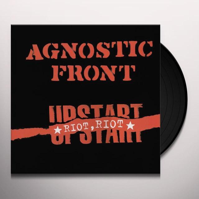 Agnostic Front RIOT RIOT UPSTART Vinyl Record