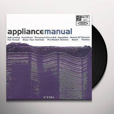 Appliance MANUAL Vinyl Record - Limited Edition