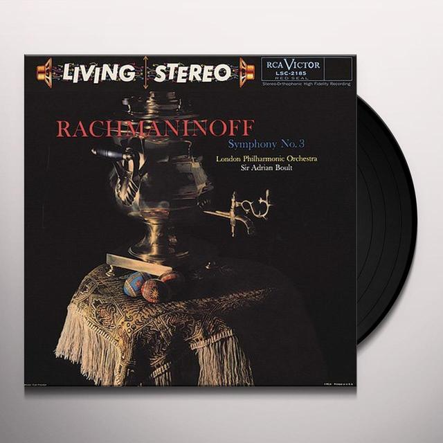 Rachmaninoff / Boult SYMPHOMY 3 Vinyl Record