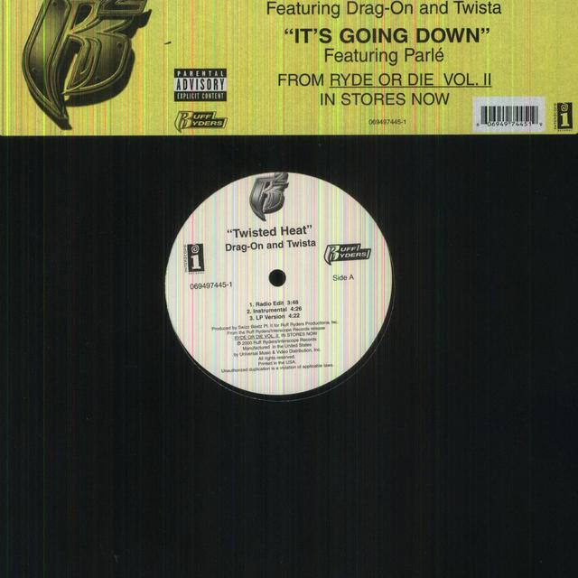 RUFF RYDERS / DRAG-ON / TWISTA TWISTED HEAT (X3) / IT'S GOING DOWN (X3) Vinyl Record