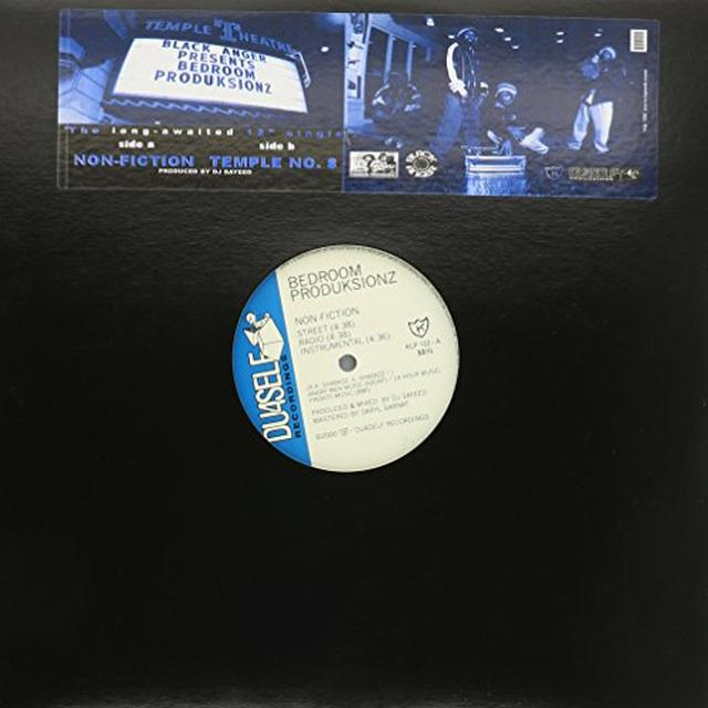 Black Anger / Bedroom Produksionz NON-FICTION / TEMPLE 8 Vinyl Record