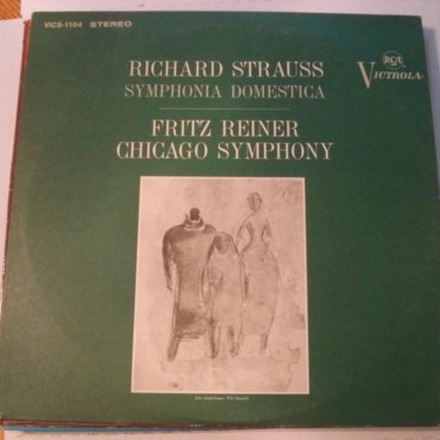 Reiner / Chicago Symphony Orchestra STRAUSS: SYMPHONIA DOMESTICA Vinyl Record