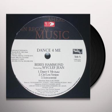 Beres Hammond (feat. Wyclef Jean) DANCE 4 ME Vinyl Record