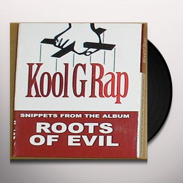 Kool G Rap ROOTS OF EVIL Vinyl Record