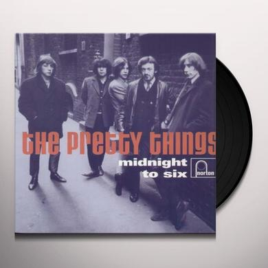 The Pretty Things MIDNIGHT TO SIX Vinyl Record