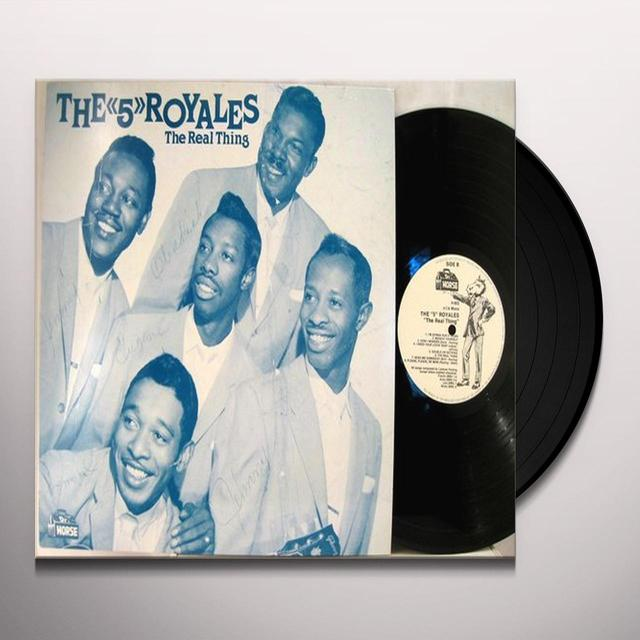 FIVE ROYALES REAL THING 1952-61 Vinyl Record