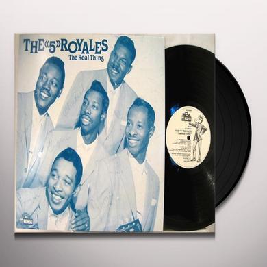 FIVE ROYALES REAL THING 1952-61 Vinyl Record