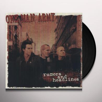 One Man Army RUMORS & HEADLINES Vinyl Record