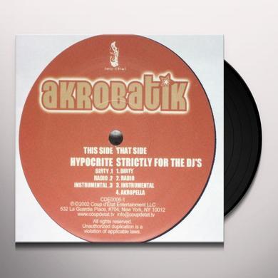 Akrobatik HYPOCRITE / STRICTLY FOR THE DJ'S Vinyl Record