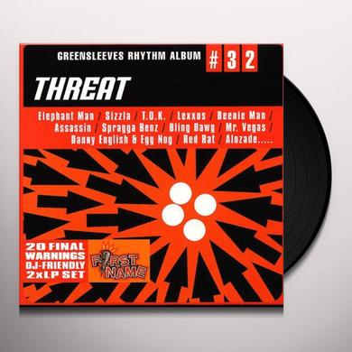 GREENSLEEVES RHYTHM ALBUM 32: THREAT / VARIOUS Vinyl Record