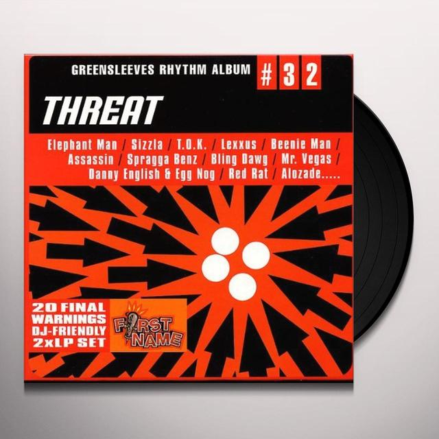 GREENSLEEVES RHYTHM ALBUM 32: THREAT / VARIOUS Vinyl Record