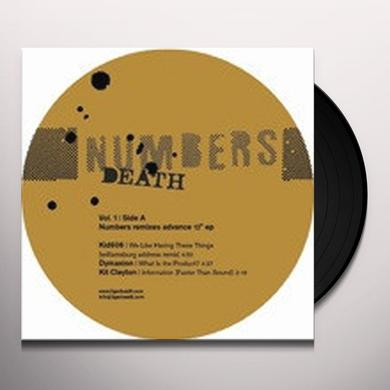 Numbers DEATH REMIXES 1 Vinyl Record