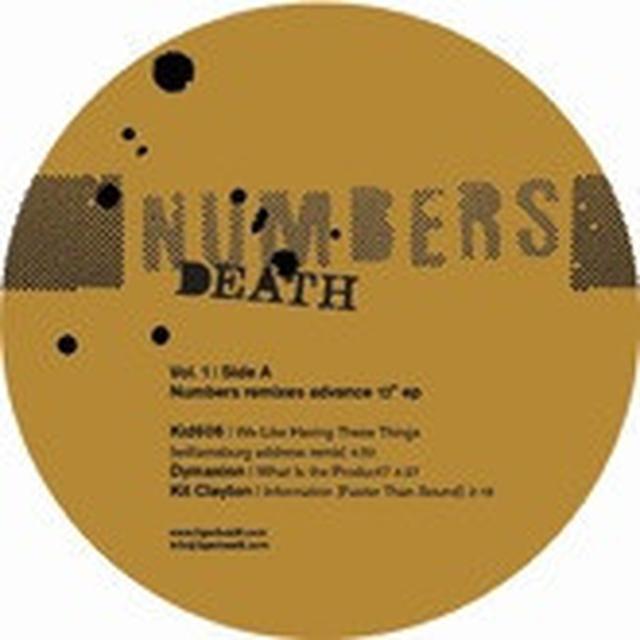 Numbers DEATH REMIXES 1 Vinyl Record