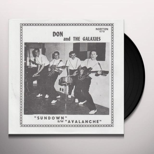 Don & The Galaxies AVALANCHE / SUNDOWN Vinyl Record