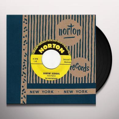 Hesitations / Slough Boys SURFIN SCHOOL / SURFIN ON CEDAR LAKE Vinyl Record