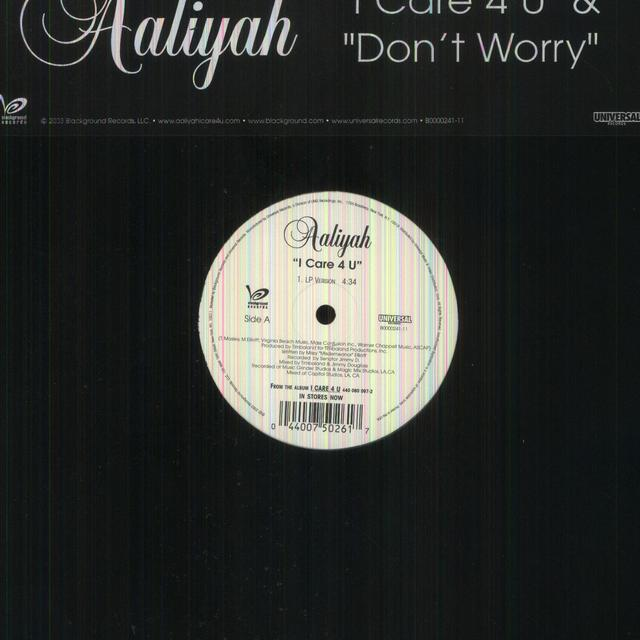 Aaliyah I CARE 4 U / DON'T WORRY (Vinyl)