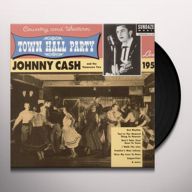Johnny Cash LIVE AT TOWN HALL PARTY 1958 Vinyl Record