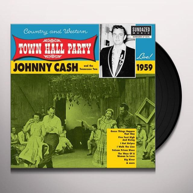 Johnny Cash LIVE AT TOWN HALL PARTY 1959 Vinyl Record