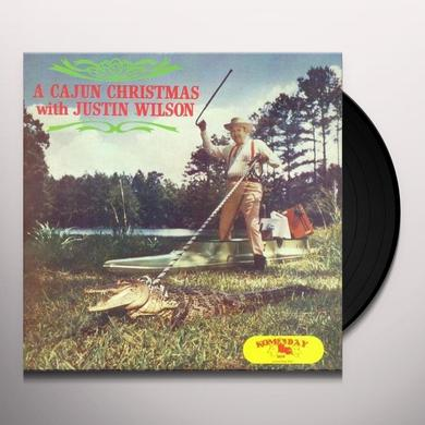 Justin Wilson CAJUN CHRISTMAS WITH Vinyl Record