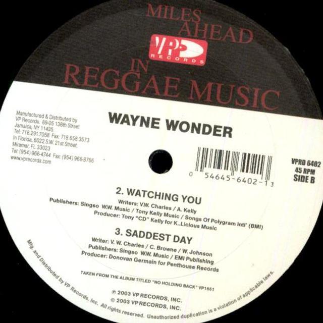 Wayne Wonder NO LETTING GO Vinyl Record