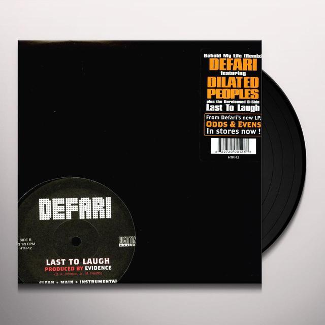 Defari BEHOLD MY LIFE / EXTRA THUMP Vinyl Record - Remix