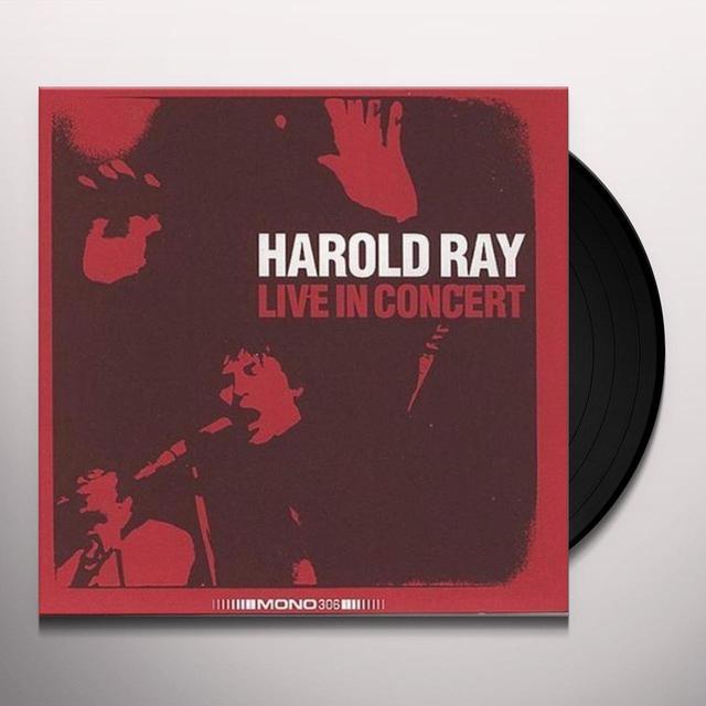 Harold Ray LIVE IN CONCERT Vinyl Record