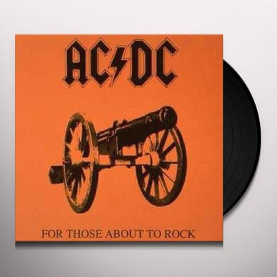 AC/DC FOR THOSE ABOUT TO ROCK WE SALUTE YOU Vinyl Record - Remastered