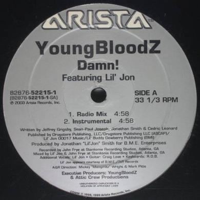 Youngbloodz DAMN / LEAN LOW Vinyl Record