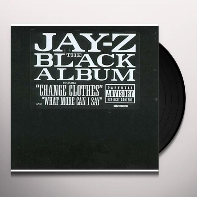 Jay Z BLACK ALBUM Vinyl Record