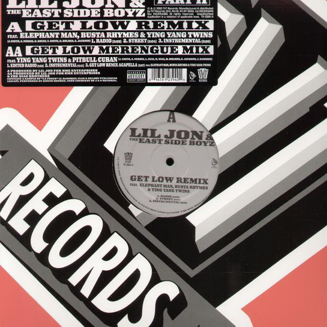 Lil Jon & Eastside Boyz GET LOW REMIX Vinyl Record