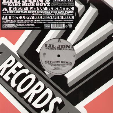Lil Jon & Eastside Boyz GET LOW REMIX Vinyl Record