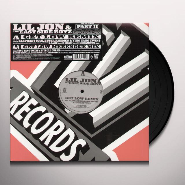 Lil Jon & Eastside Boyz GET LOW REMIX Vinyl Record - Remix
