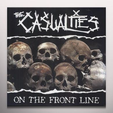 The Casualties ON THE FRONT LINE Vinyl Record - Colored Vinyl