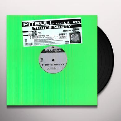Pitbull Featuring Lil Jon THAT'S NASTY Vinyl Record