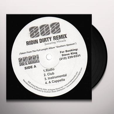 808 Featuring Miracle RIDIN DIRTY REMIX Vinyl Record - Remix